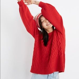 Madewell Red sweater size small